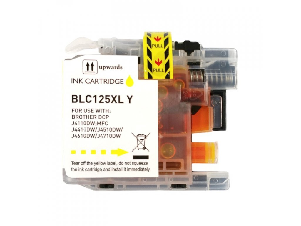 Inkoustová kazeta - BROTHER LC-125XLY - yellow - kompatibilní