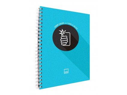 Záznamová kniha A4 KEEP CALM modrá