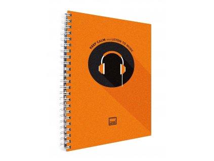 Záznamová kniha A4 KEEP CALM oranžová