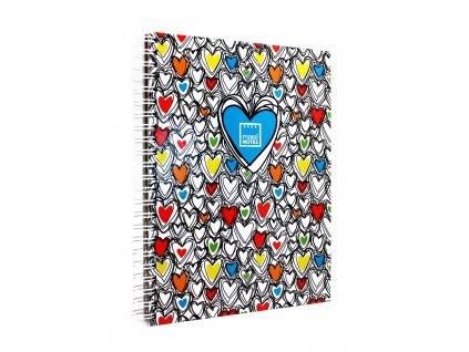 Záznamová kniha A4 COLORFUL HEARTS