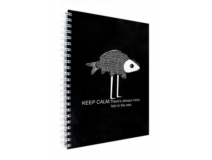 Záznamová kniha A4 W&B FISH