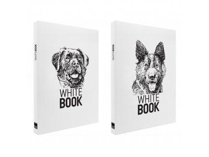Zápisník A4 WHITE BOOK DOGS bílý
