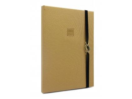 Zápisník A4 CLASSIC GOLD