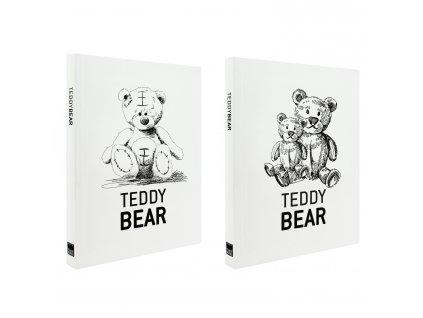 Zápisník A5 Teddy Bear bílý (2ks)