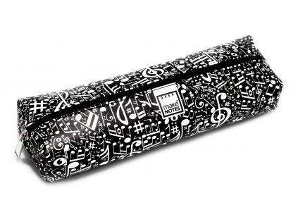 Pouzdro na tužky MUSIC černé