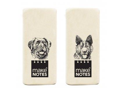 Mazací guma WHITE BOOK DOGS (2ks)