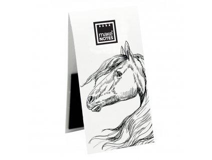 Magnetická záložka do knihy WHITE BOOK HORSE