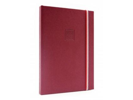 Zápisník A5 BRINJAL SPICY s elastickou gumičkou