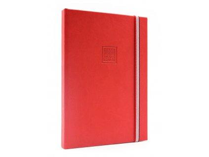 Zápisník A5 CHERRY RED s elastickou gumičkou