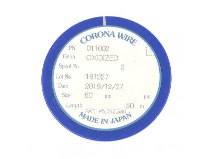 Koronový drát - FB4-3687-000 - oxidized - 60micr, 50m