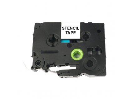 Páska - BROTHER STE-141 STENCIL - 18 mm - černý tisk - kompatibilní
