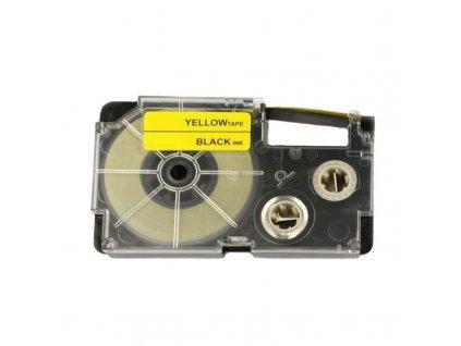Páska - CASIO XR-18YW1 - 18 mm žlutá - černý tisk - kompatibilní