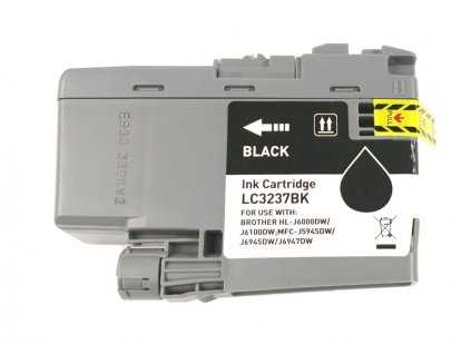 Inkoustová kazeta - BROTHER LC-3237Bk - black - kompatibilní