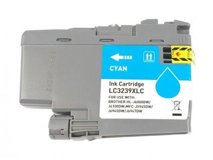 Inkoustová kazeta - BROTHER LC-3239XLC - cyan - kompatibilní