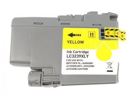 Inkoustová kazeta - BROTHER LC-3239XLY - yellow - kompatibilní