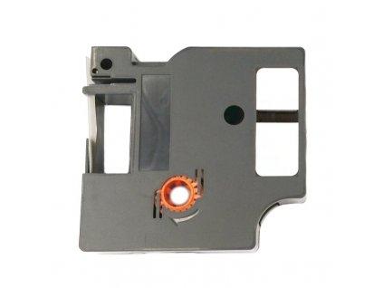 Páska - DYMO 43613, S0720780 - 6 mm bílá - černý tisk - kompatibilní