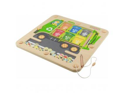 Vzdělávací magnetická hračka třídění odpadu