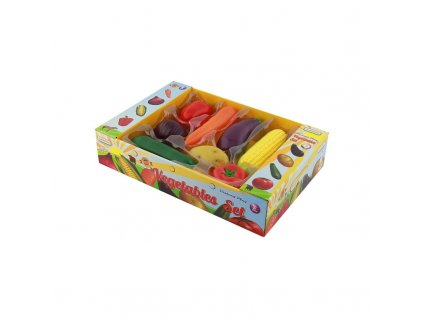 Sada 8 dřevěných kusů zeleniny pro dětskou kuchyň