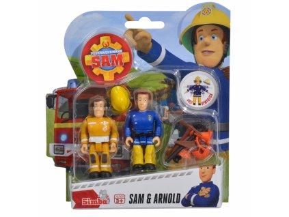 Sada dvou figurek Sam a Arnold s příslušenstvím Požárník Sam
