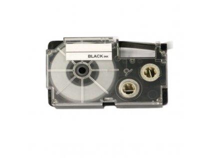 Páska - CASIO XR-12FGN - 12 mm signální zelená - černý tisk - kompatibilní