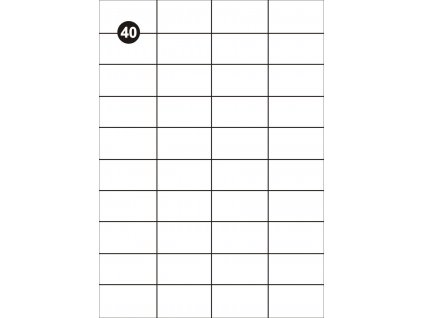 Samolepící etikety 52,5x29,7mm, A4 - bílé  (balení 100 listů)