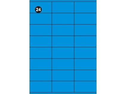 Samolepící etikety 70x36 mm, A4 - modré  (balení 20 listů)