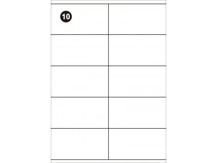 Samolepící etikety 105x57 mm, A4 - bílé  (balení 100 listů)