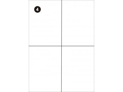Samolepící etikety 105x148,5 mm, A4 - bílé  (balení 100 listů)