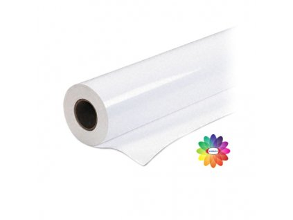 Matt silver film special - matná stříbrná fólie - 1,27 x 30 m, dutinka 50 mm, 100 mic - FOPRINT