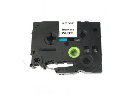 Páska pro popisovače BROTHER - typ TZE-FX211 - 6 mm bílá - černý tisk - flexibilní páska - kompatibilní