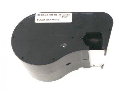 Páska - BRADY MC-1500-595-WT-BK - Vinyl - 38,1 mm bílá - černý tisk - kompatibilní