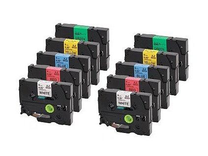 Páska pro popisovače CASIO - typ IR-18WER1 - 18 mm bílá - červený tisk - originál