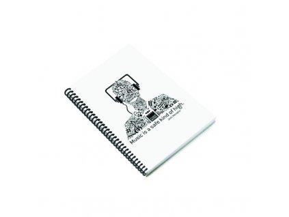 Zápisník A5 MUSIC - bílý