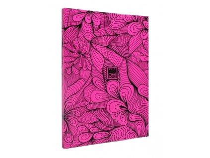 Zápisník A5 FLUORESCENT DIARY - fialový