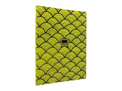 Zápisník A5 FLUORESCENT DIARY - žlutý