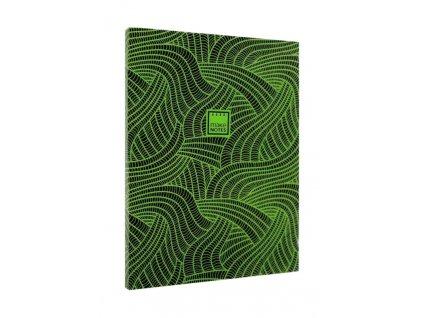 Zápisník A6 FLUORESCENT DIARY - zelený