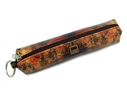 Pouzdro na tužky TEXTURES - Rust - malé