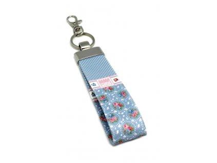 Přívěsek na klíče SHABBY BLUE