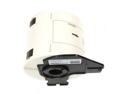 Etikety / štítky pro tiskárny BROTHER QL - typ DK-11202 - kompatibilní - 62 mm x 100 mm - 300 kusů, bílá (poštovní štítky)
