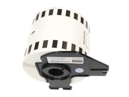 Štítky pro tiskárny BROTHER QL - typ DK-22205 - kompatibilní - 62 mm x 30,48 m, bílá (papírová samolepící role)