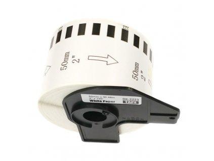 Etikety / štítky pro tiskárny BROTHER QL - typ DK-22223 - kompatibilní - 50 mm x 30,48 m, bílá (papírová samolepící role)