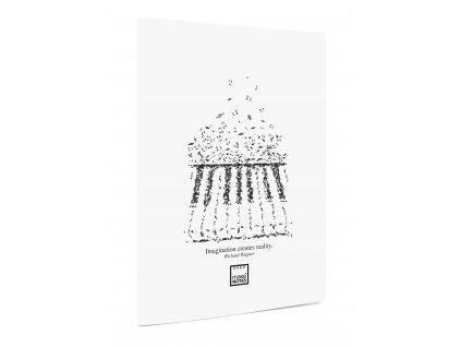 Notový sešit A4 MUSIC R.Wagner bílé desky