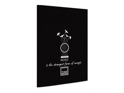 Notový sešit A5 MUSIC černé desky