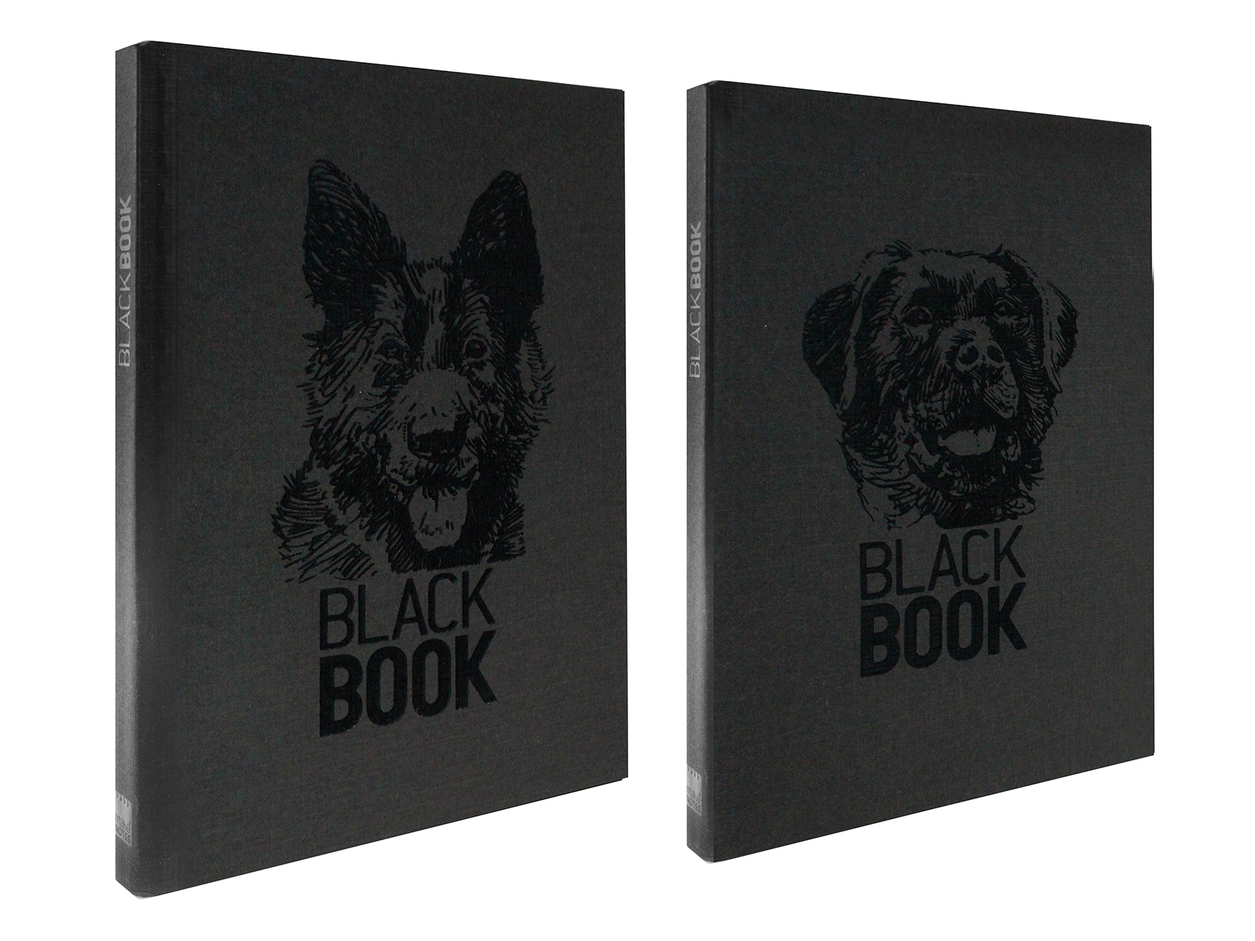 MAKENOTES Zápisník A6 BLACK BOOK DOGS
