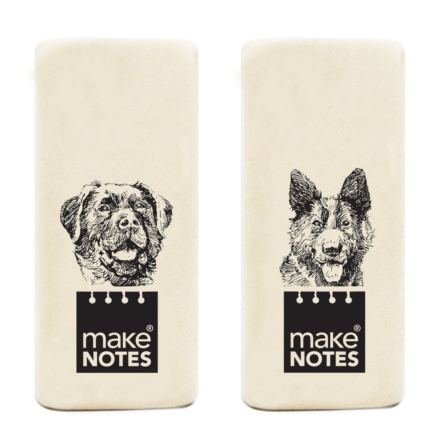 MAKENOTES Mazací guma WHITE BOOK DOGS (2ks)