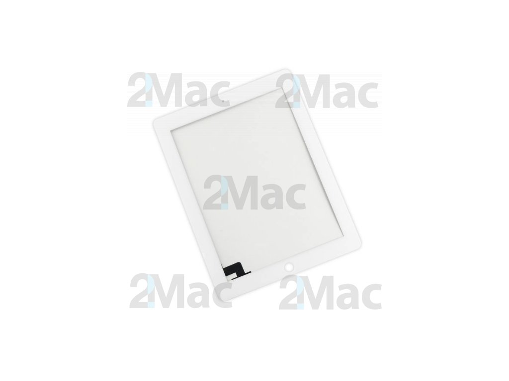 Přední dotykové sklo (touch screen) pro Apple iPad 2 White - High Copy