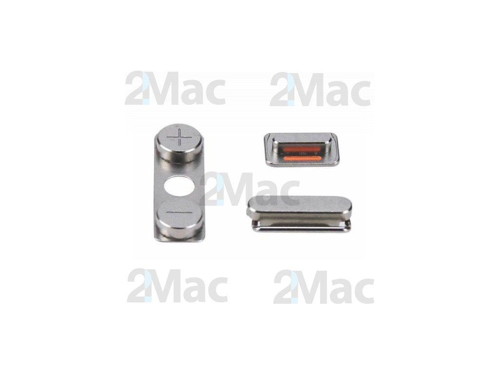 Boční kovová tlačítka pro Apple iPhone 4/4S - Gray