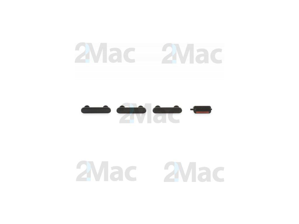 Boční kovová tlačítka pro Apple iPhone 7 - Black