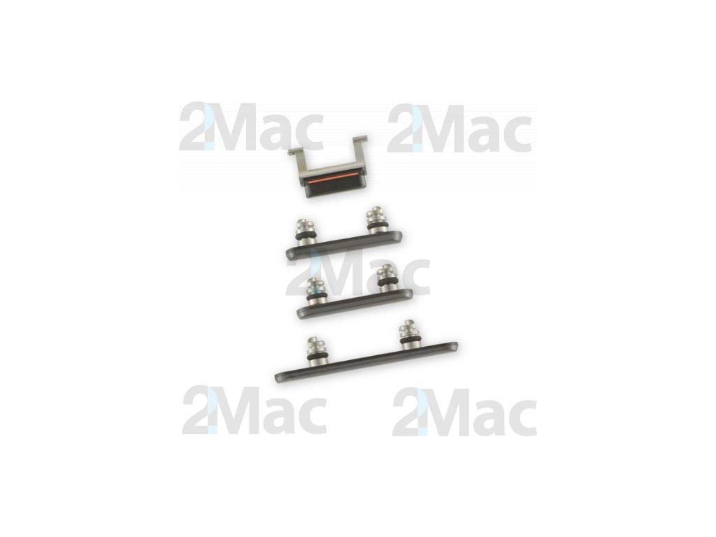 Boční kovová tlačítka pro Apple iPhone XS - Black
