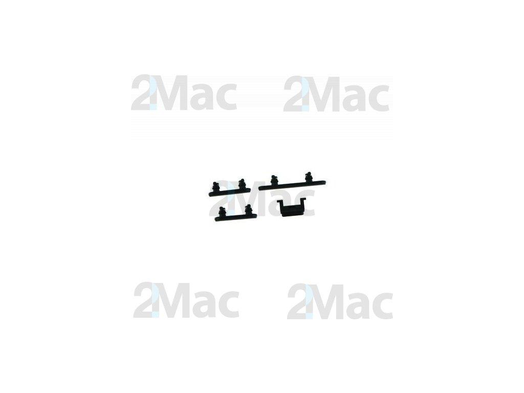 Boční kovová tlačítka pro Apple iPhone XR - Black